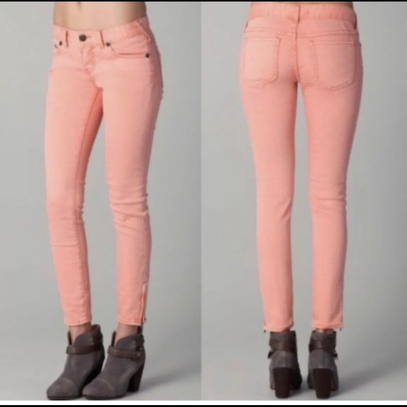 Free People Denim - FREE PEOPLE Jeans Coral Color Size 26